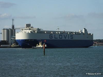 GLOVIS SPIRIT Departing Southampton PDM 22-07-2014 18-08-26