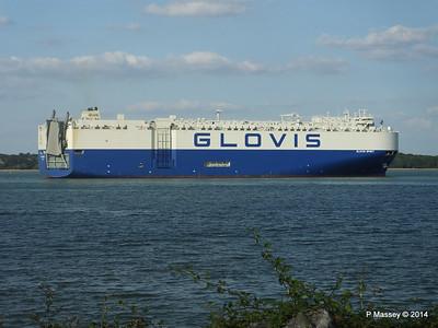 GLOVIS SPIRIT Departing Southampton PDM 22-07-2014 18-15-06
