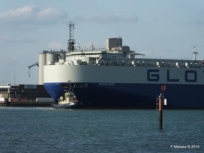 GLOVIS SPIRIT Departing Southampton PDM 22-07-2014 18-08-00