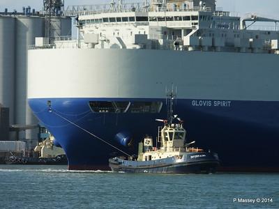 GLOVIS SPIRIT Departing Southampton PDM 22-07-2014 18-08-14
