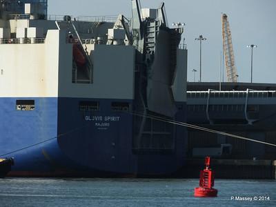 GLOVIS SPIRIT Departing Southampton PDM 22-07-2014 17-58-56