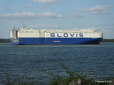 GLOVIS SPIRIT Departing Southampton PDM 22-07-2014 18-15-10