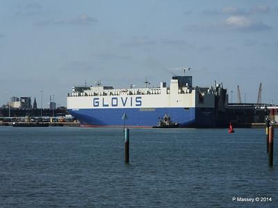 GLOVIS SPIRIT Departing Southampton PDM 22-07-2014 17-59-24