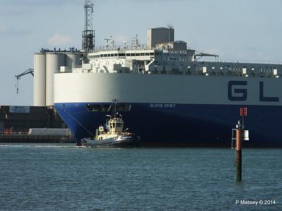 GLOVIS SPIRIT Departing Southampton PDM 22-07-2014 18-08-05