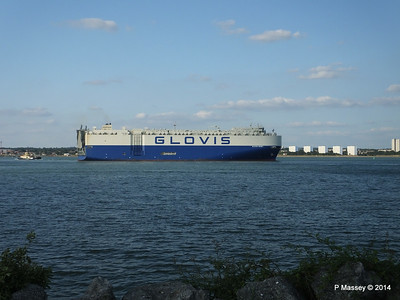 GLOVIS SPIRIT Departing Southampton PDM 22-07-2014 18-13-53