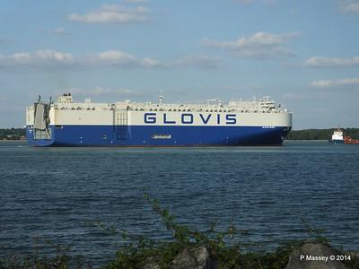 GLOVIS SPIRIT Departing Southampton PDM 22-07-2014 18-15-16