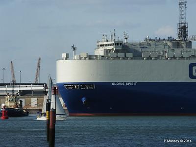 GLOVIS SPIRIT Departing Southampton PDM 22-07-2014 18-07-14
