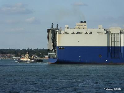 GLOVIS SPIRIT Departing Southampton PDM 22-07-2014 18-13-48