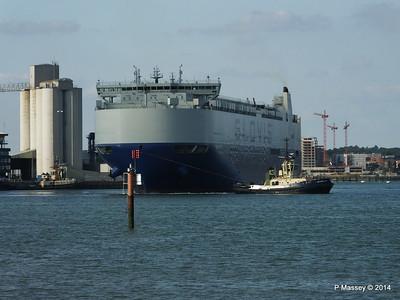 GLOVIS SPIRIT Departing Southampton PDM 22-07-2014 18-09-13