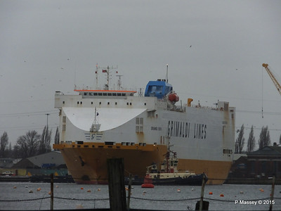 GRANDE EUROPA Departing Southampton PDM 14-01-2015 15-48-57