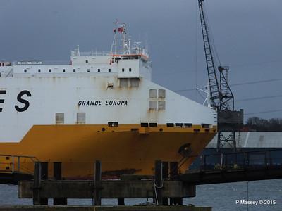 GRANDE EUROPA Departing Southampton PDM 14-01-2015 15-54-55