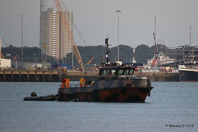 01 Sep 2016 Army Tug WB43 Arriving Marchwood