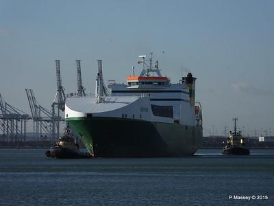 EDDYSTONE moving berths Southampton PDM 06-02-2015 14-49-40