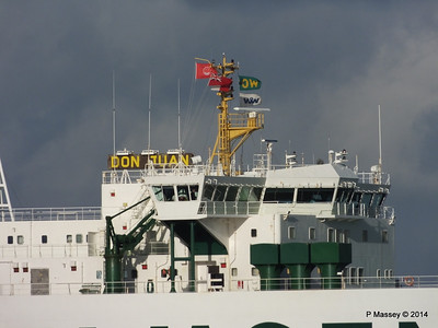 DON JUAN Departing Southampton PDM 09-01-2014 13-43-16