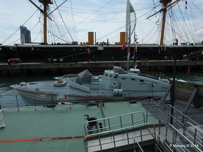 MGB 81 with HMS WARRIOR behind Portsmouth PDM 30-06-2014 11-55-32
