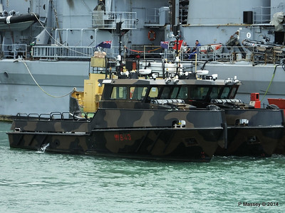 Army Workboats WB44 SIROCCO WB43 MISTRAL 1514F Fuel Lighter Portsmouth PDM 30-06-2014 12-12-31