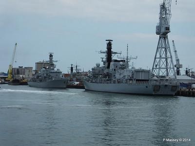 F83 HMS ST ALBANS F239 HMS RICHMOND Portsmouth PDM 31-05-2014 14-57-51