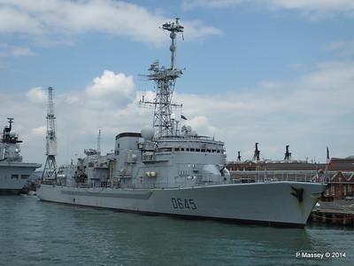 French Frigate LA MOTTE-PICQUET D645 Portsmouth PDM 31-05-2014 14-45-13