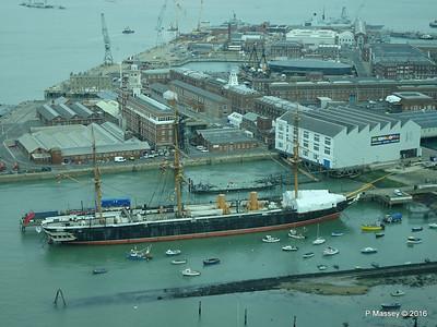 HMS WARRIOR from Spinnaker Tower Portsmouth 27-02-2016 10-28-24