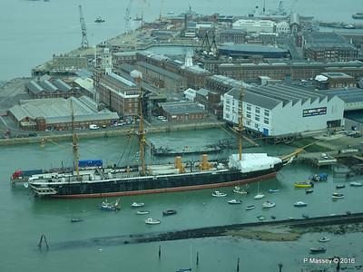 HMS WARRIOR from Spinnaker Tower Portsmouth 27-02-2016 10-28-21