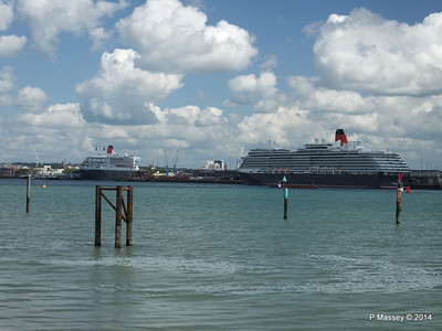 QUEEN MARY 2 QUEEN VICTORIA Southampton PDM 05-06-2014 11-12-52