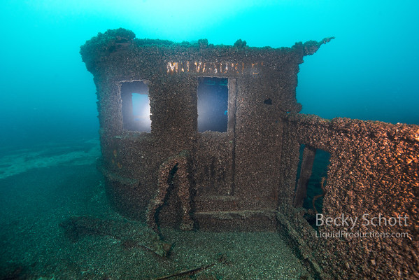 Chart house sitting in the sand 100ft off the wreck of the Milwaukee Car Ferry