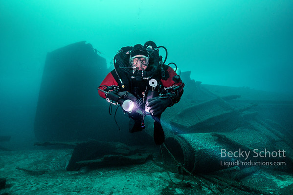 Diver on Car Ferry