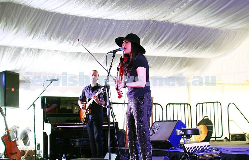 6-9-15. Shir Madness. Melbourne  Jewish Music Festival. Rita Satch. Photo: Peter Haskin