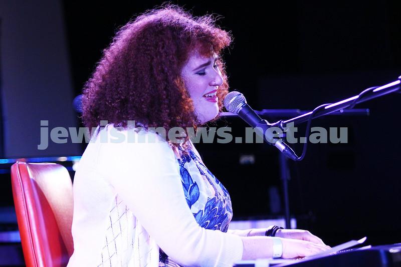 6-9-15. Shir Madness. Melbourne  Jewish Music Festival. Singer song writer Emilia. Photo: Peter Haskin