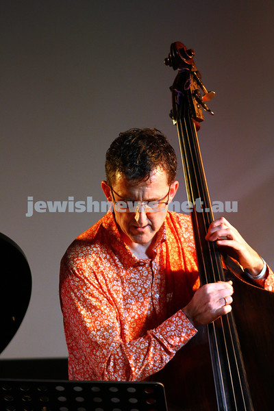 6-9-15. Shir Madness. Melbourne  Jewish Music Festival.  Leonie Cohen trio. Photo: Peter Haskin