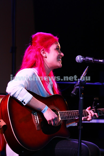 6-9-15. Shir Madness. Melbourne  Jewish Music Festival. Singer song writer Shannyn Art. Photo: Peter Haskin