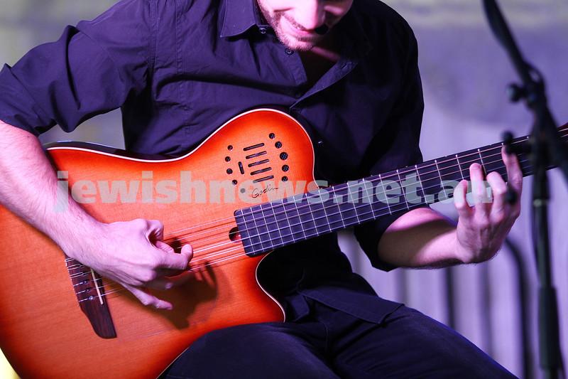 6-9-15. Shir Madness. Melbourne  Jewish Music Festival. Guitarist for Rita Satch. Photo: Peter Haskin