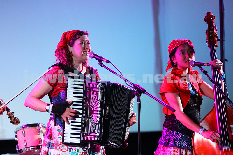 6-9-15. Shir Madness. Melbourne  Jewish Music Festival. Stiletto Sisters. Photo: Peter Haskin
