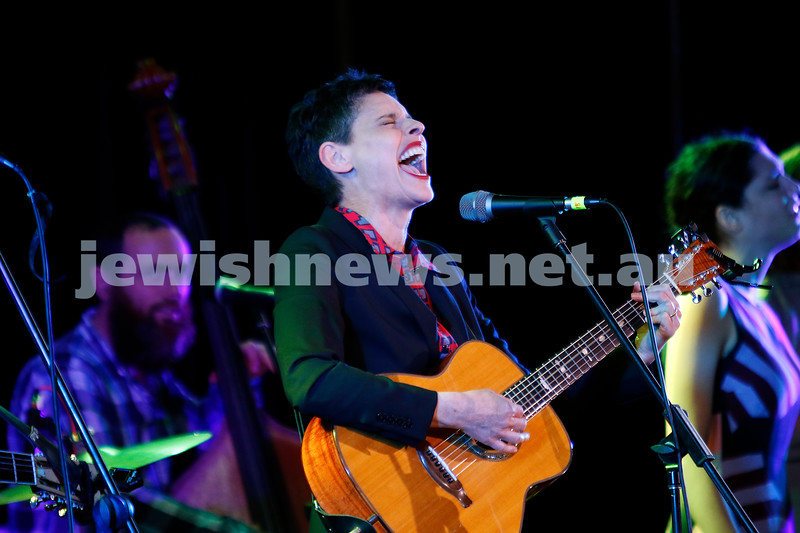 3-9-17. Shir Madness. Melbourne Jewish Music Festival.  Deborah Conway. Photo: Peter Haskin