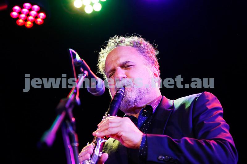 3-9-17. Shir Madness. Melbourne Jewish Music Festival.  David Krakauer Ancestral Groove. Photo: Peter Haskin
