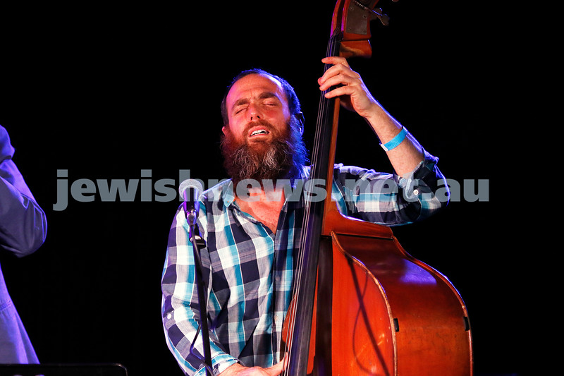 3-9-17. Shir Madness. Melbourne Jewish Music Festival.  Yohai Cohen and band. Simon Starr. Photo: Peter Haskin