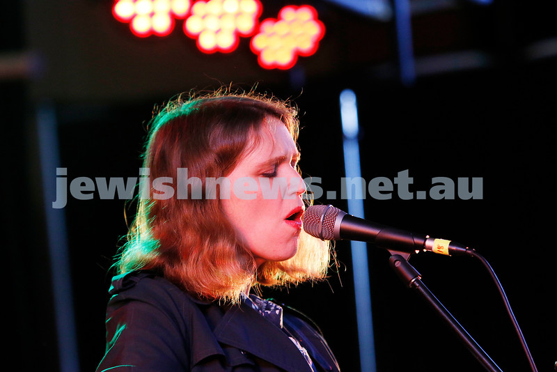 3-9-17. Shir Madness. Melbourne Jewish Music Festival.  Tin Pan Orange. Emily Lubitz. Photo: Peter Haskin