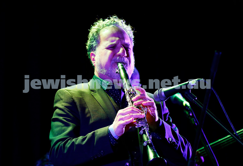 3-9-17. Shir Madness. Melbourne Jewish Music Festival.  David Krakauer Ancestral Groove. Photo: Peter Haskin