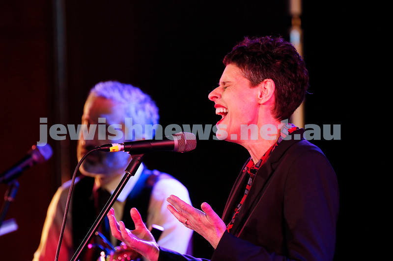 3-9-17. Shir Madness. Melbourne Jewish Music Festival.  Willy Zygier, Deborah Conway. Photo: Peter Haskin