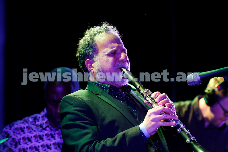 3-9-17. Shir Madness. Melbourne Jewish Music Festival. David Krakauer's Ancestral Groove. Photo: Peter Haskin