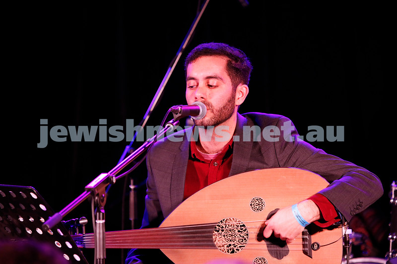 3-9-17. Shir Madness. Melbourne Jewish Music Festival.  Yohai Cohen and band. Photo: Peter Haskin