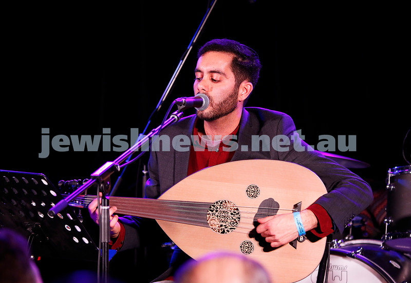 3-9-17. Shir Madness. Melbourne Jewish Music Festival. Yohai Cohen. Photo: Peter Haskin