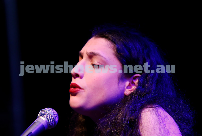3-9-17. Shir Madness. Melbourne Jewish Music Festival.  Alma Zygier. Photo: Peter Haskin