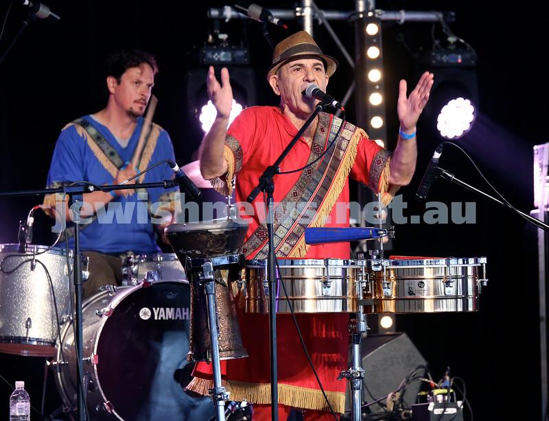Shir Madness Jewish Music Festival at Bondi Pavilion. Azadoota on stage. Pic Noel Kessel.