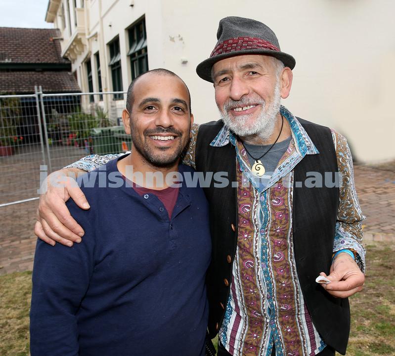 Shir Madness Jewish Music Festival at Bondi Pavilion. Nissim Bushari (left), Henry Greener. Pic Noel Kessel.