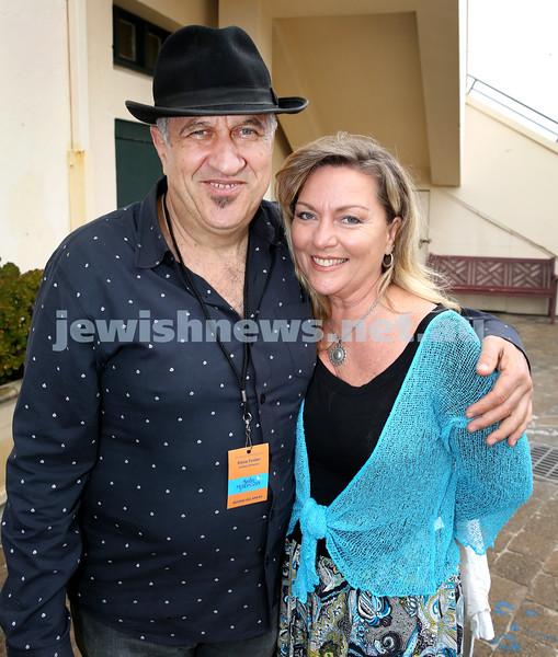 Shir Madness Jewish Music Festival at Bondi Pavilion. David Fester (left), Vivienne Black. Pic Noel Kessel.