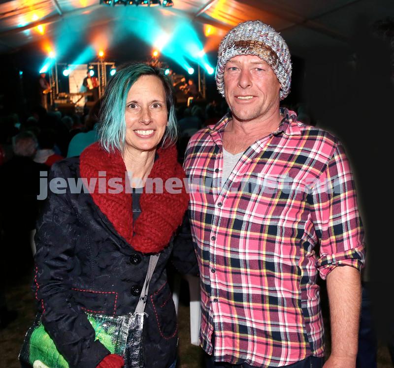 Shir Madness Jewish Music Festival at Bondi Pavilion. Marina Debris (left), Simon Ledge. Pic Noel Kessel.