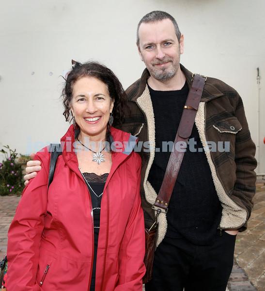 Shir Madness Jewish Music Festival at Bondi Pavilion. Michelle Svenger (left), Marty Cox. Pic Noel Kessel.