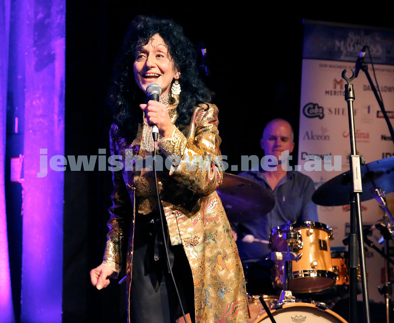 Shir Madness Jewish Music Festival at Bondi Pavilion. Dahlia Dior on stage. Pic Noel Kessel.