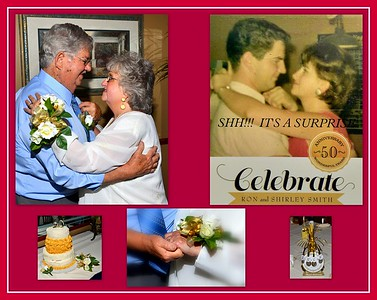 Shirley and Ron Smith 50th. Wedding Anniversary Celebration June 4, 2016